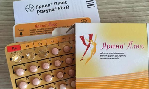 Противозачаточные таблетки Ярина Плюс