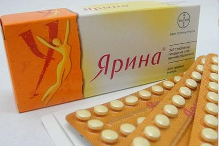 Противозачаточные таблетки Ярина