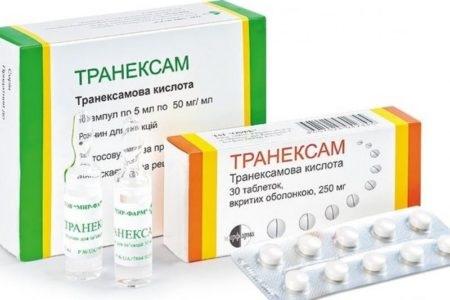 Форма выпуска препарата Транексам