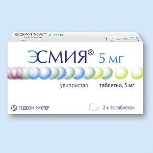 Препарат Эсмия для лечения миомы матки, когда начинаются месячные после приема