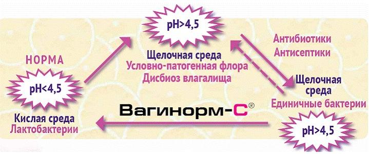 Показания к применению препарата Вагинорм С