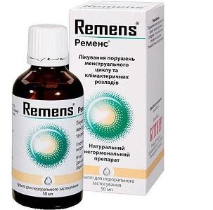 Инструкция по применению Ременс при нарушении менструального цикла и при климаксе