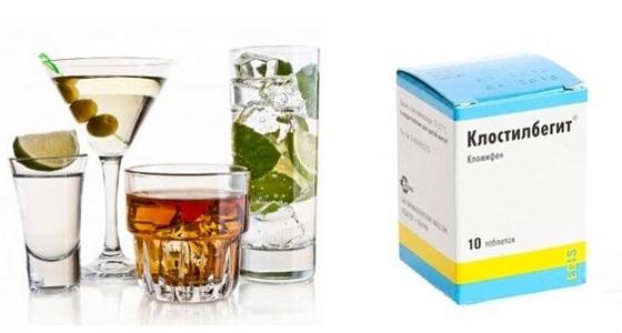 Стимуляция овуляции Клостилбегитом и алкоголь