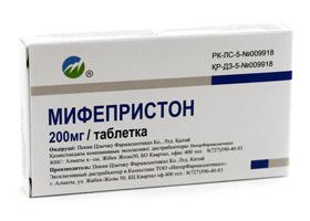 Мифепристон для вызова менструации